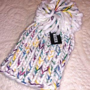 NWT Steve Madden Chunky Knit Speckled Beanie